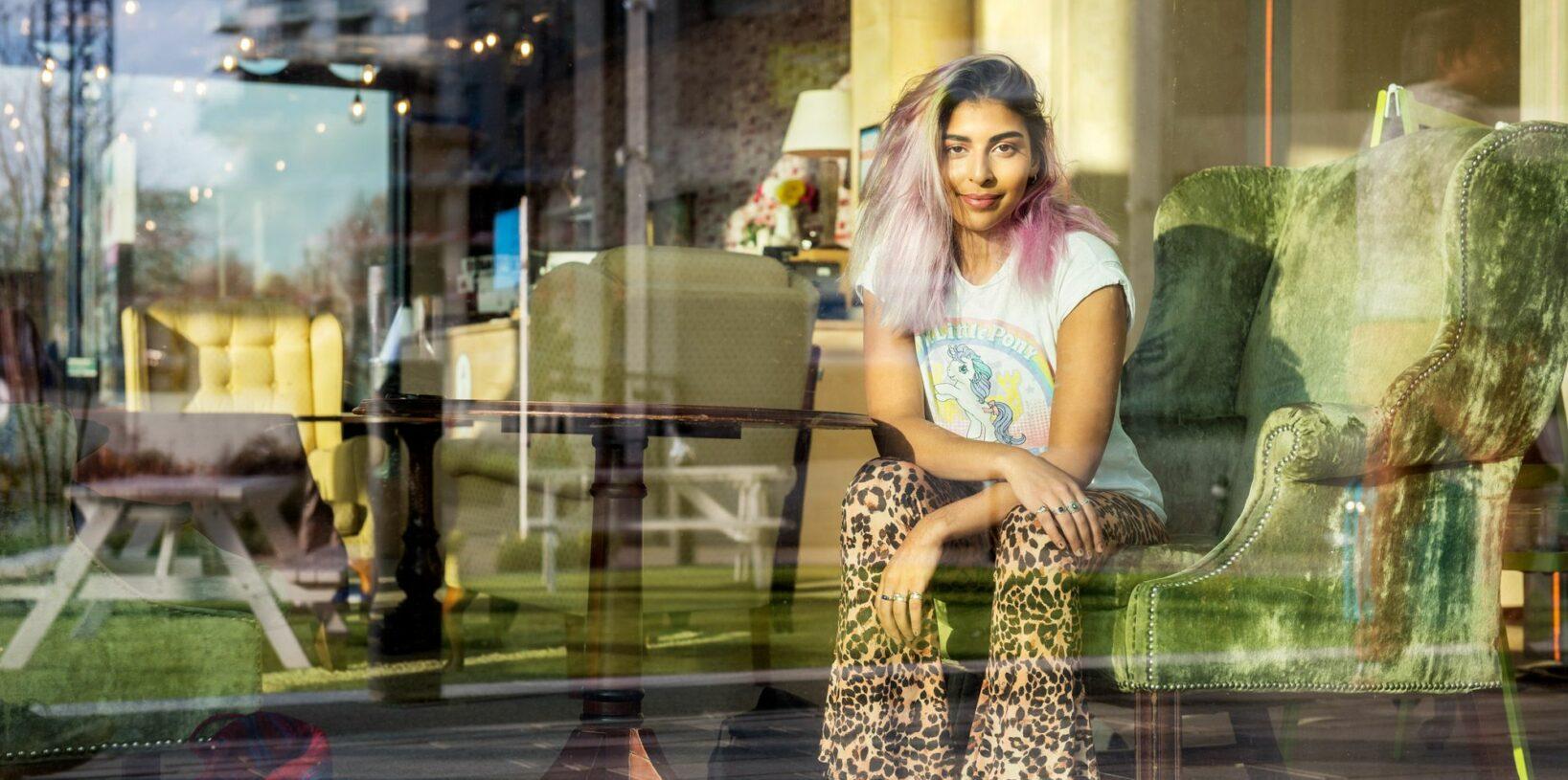 The artist, Mina Ansari